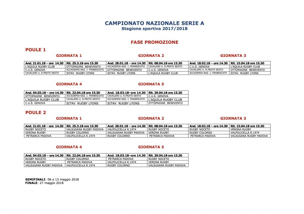 campionato serie a 2017 2018