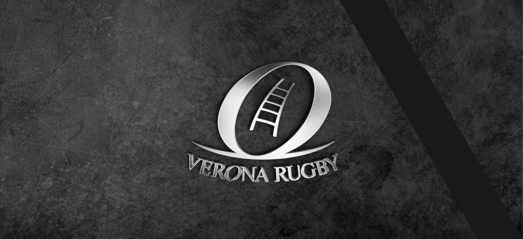 Banner logo verona rugby lutto