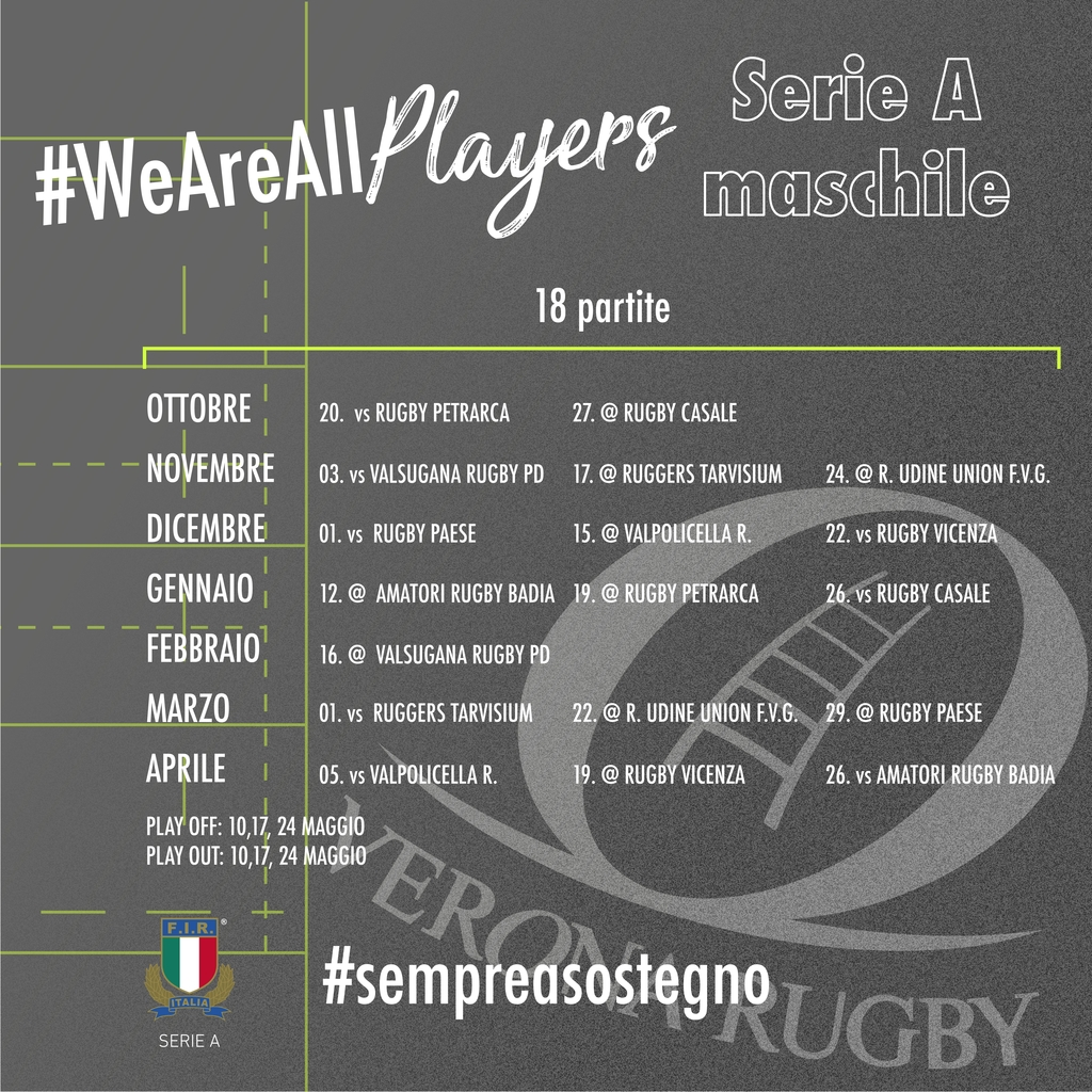 Calendario Risultati E Classifiche Verona Rugby